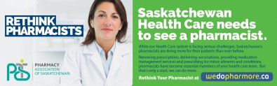 Saskatchewan Health Care needs to see a pharmacist.