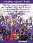 Labour Day: September 7, 2020