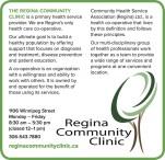 THE REGINA COMMUNITY CLINIC is a primary health service provider.