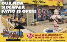 Las Palapas new sidewalk patio is open!