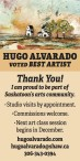 HUGO ALVARADO VOTED BEST ARTIST