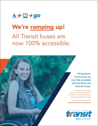 All Saskatoon Transit buses are now accessible.