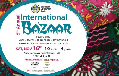 Saskatoon OpenDoor Society 5th Annual International Bazaar