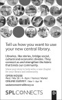 Tell us how you want to use your new central library