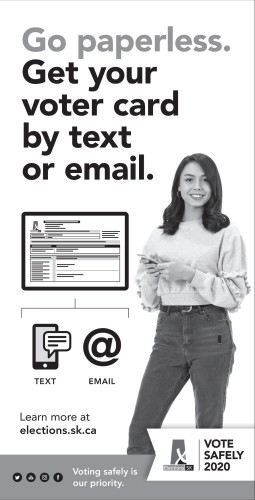 Go paperless. Get your voter card by text or email.