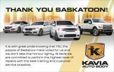 THANK YOU SASKATOON from Kavia Auto Body
