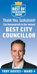 Honoured to be voted BEST CITY COUNCILLOR
