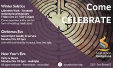 Come CELEBRATE with Saskatoon Unitarians