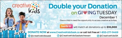Give a child in need the opportunity to access creative activities.