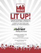 SPOTLIGHTING LITERACY A NIGHT OF FUN, FOOD AND UNIQUE AUCTION EXPERIENCES.