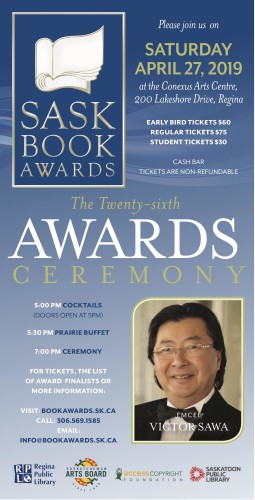 SASK BOOK AWARDS on April 27
