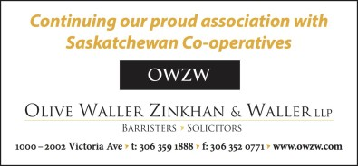 Continuing our proud association with Saskatchewan Co-operatives